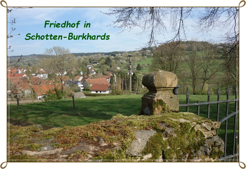 Friedhof in Schotten - Burkhards