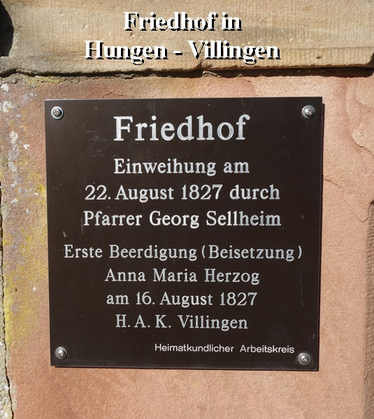 Friedhof in Hungen Villingen