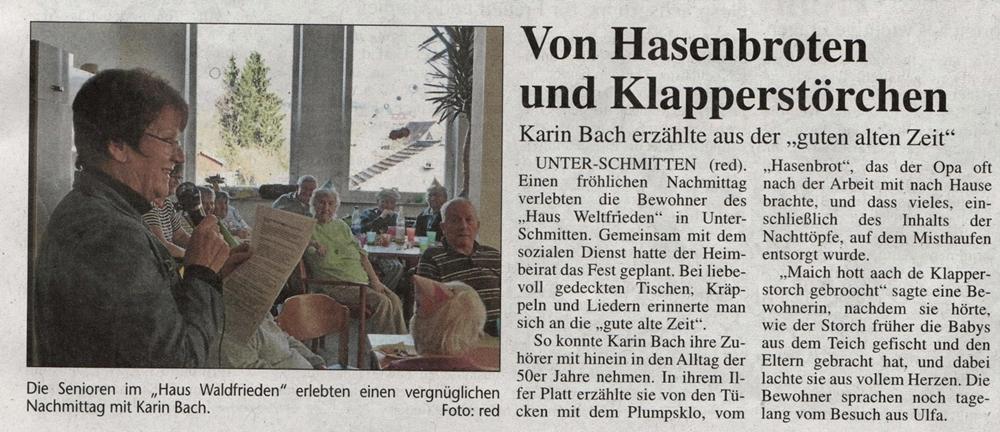 Seniorenheim Weltfrieden in Nidda Unter-Schmitten